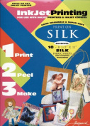 Ink Jet Fabric Sheets 22cm x 28cm 10/Pkg-100% Silk Habotai