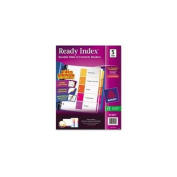 Avery Consumer Products AVE11196 Ready Index Dividers- 1-12 Tab- 3HP- 8-. 50inchx11inch- 6-ST- Asst
