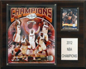 C & I Collectables 1215NBA12MH NBA 12 X 15 Miami Heat Champions 12 x 15 Plaque