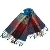 Blancho Bedding Pa-a09-6 Moon & Stars & Roses Elegant Fashion Smooth Touch Tassel Ends Pashmina/Shawl/Scarf