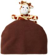 BearHands FHS-BIR-BRN M Hat Fleece Giraffe on Brown - Medium
