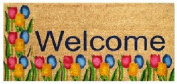 DC MILLS 12089 Tulips Welcome - Vinyl Back Mat 18 X 40 Inches
