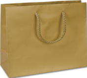 Bags & Bows by Deluxe 244M-090307-15 Gold Matte Laminated Euro-Shoppers - Case of 200