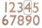 Architectural Mailboxes 3582AC-4 Solid Cast Brass 4 inch Floating House Number Antique Copper 4