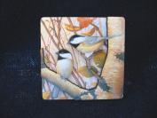 Songbird Essentials SEEK2012 0.25 T x 3 L x 3 W Chickadees Refrigerator Magnet