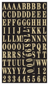 Hy-ko MM-2 1 in. Gold Self-Stick Numbers & Letters Pack