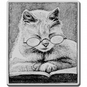 Stampendous CRV239 Cling Rubber Stamp-Cattus Librum