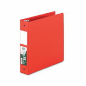 Samsill 14363 Antimicrobial Locking Round Ring Binder 8-1/2 x 11 5.1cm Cap Red