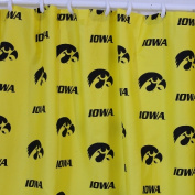 College Covers IOWSC Iowa Printed Shower Curtain Cover 70 in. X 72 in.