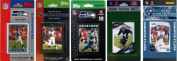 C & I Collectables SEAHAWKS5TS NFL Seattle Seahawks 5 Different Licenced Trading Card Team Sets