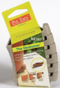 Gardenrite Pot Toes 6 Pack Light Grey Pot Toes PT-06LGCS - Pack of 6