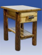 Montana Woodworks MWGCND Glacier Country Nightstand with Drawer and Shelf