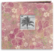 Tropical Post-Bound Album with Window - Pink Floral