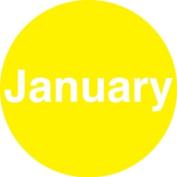 Ace Label 98JANF 5.1cm . Circle January