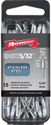 Arrow Fastener Co. RMST.16 15 Count .40.6cm . Medium Stainless Steel Rivet RMST.16