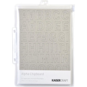Chipboard Alphabet #2 21cm x 15cm Sheets 3/Pkg-.2220cm Uppercase, Lowercase & Numbers