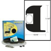 TACO Flex Vinyl Rub Rail Kit - Black w/White Insert - 50' - 2.5cm - 0.6cm x 2.4cm