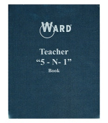 Ward-The Hubbard Company WAR51 Teacher 5 In 1 Grade Book Lesson Planner Behavior Forms & Calendar