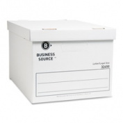 Business Source BSN32450 Storage Boxes- Letter-Legal- 30cm .x38cm .x25cm .- 12-CT- White