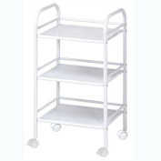 Blue Hills Studio SH3WH 3-Shelf Storage Cart - White