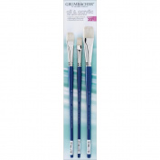 Chartpak Grumbacher Oil & Acrylic Hog Bristle Brush Set, 3/pkg