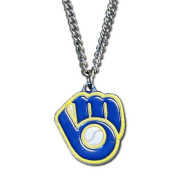 Officially Licenced MLB Team Chain Logo Necklace Milwaukee Brewers