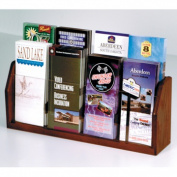 Wooden Mallet LT-8MH Countertop 8 Pocket Brochure Display in Mahogany