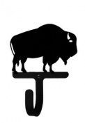 Village Wrought Iron WH-186-XS Buffalo Wall Hook Extra Small - Black
