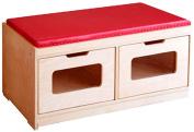 A+ Childsupply F8049 Bench Storage Unit-2 Drawer