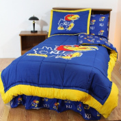 College Covers KANBBQU Kansas Bed in a Bag Queen- With Team Coloured Sheets