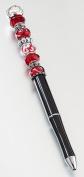 Lillian Rose PEN920 R Beaded Pen - Red