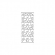 Elizabeth Craft Designs 124794 Redbreasts Peel Off Stickers 10cm . x 23cm . Sheet-Black