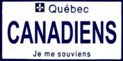 LP-2070 Quebec Canada Province Background Licence Plates- Canadiens
