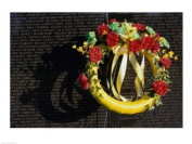 PVT/Superstock SAL10962029 Wreath on the Vietnam Veterans Memorial Wall Vietnam Veterans Memorial Washington D.C. USA -24 x 18- Poster Print