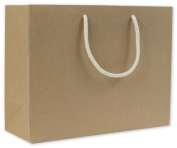 Bags & Bows by Deluxe 244R-130510-8 Recycled Kraft Groove Euro-Shoppers - Case of 100
