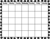 Teacher Created Resources TCR7712 Black & While Paw Prints Calendar