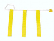 Olympia Sports FB346P 80cm .-100cm . Three-Flag Belts - Yellow