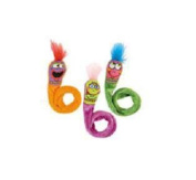 Bamboo Pet CAM650037 Springy Worms Catnip Toy 2 Pack