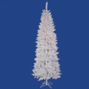 Vickerman 23m Sparkle White Pencil Artificial Christmas Tree with 350 Multi-coloured LED Lights