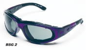 Body Specs BSG-2 PURPLE PASSION.13 Purple Passion Frame Goggles/Sunglasses with Smoke-Green Lens