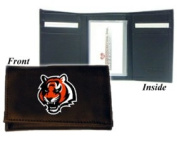 Cincinanti Bengals Embroidered Leather Tri-Fold Wallet