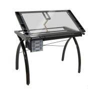 Studio Designs 10072 Futura Craft Station - Black - Clear Glass