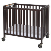 Foundations 1031852 Foundations Compact HideAway Antique Cherry Folding Fixed-Side Crib