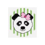 Bucilla 429059 My 1st Stitch Panda Mini Counted Cross Stitch Kit-7.6cm . Round 14 Count