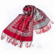 Blancho Bedding Pa-612-2 Big Flower Pattern Exquisitely Soft Woven Pashmina/Shawl/Scarves