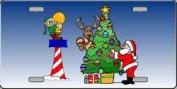 XMAS-03 North Pole Christmas Full Color License Plates