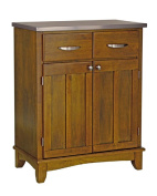 Home Styles Sideboards Two-Drawer 70cm . W Cottage Oak Buffet with Stainless Top 5001-0063