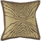 Surya PSR113A-1818P 18 in. x 18 in. Poly-Fiber Decorative Pillow - Brown