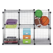 Black Steel Wire Storage Cubes