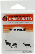 Art Impressions H3236 Art Impressions Wilderness Series Cling Rubber Stamp-Deer